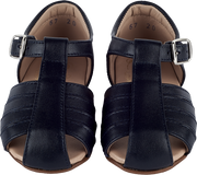 Baby Unisex - Leather Sandals With Closed Back And Buckle