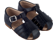 Unisex - Leather Sandals With Closed Back And Buckle