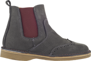 Boy - Leather Chelsea Boots With Cut Out Detail