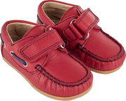 Baby Boy - Leather Boat Shoes With Velcro Strap