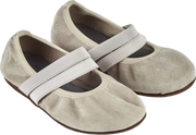 Girl - Suede Ballerina Shoes With Double Straps