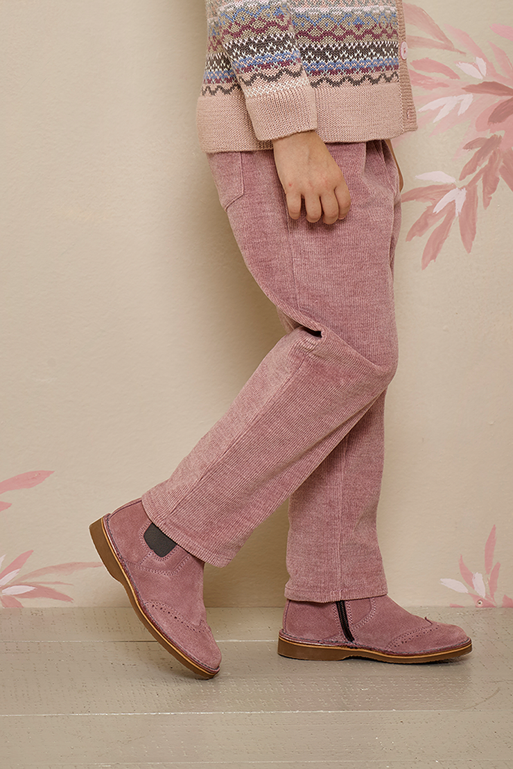 Girl - Suede Chelsea Boots With Cut Out Detail