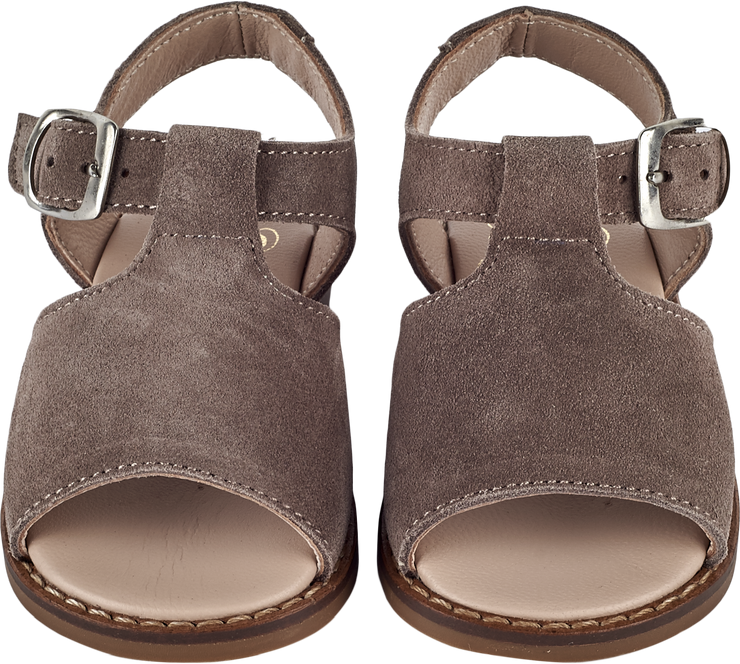Baby Boy - Suede Open Toe Sandals With Buckle