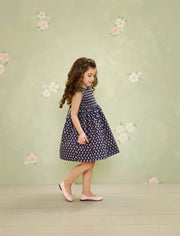 Baby Girl - Lauren 100% Cotton Liberty Dress With Liberty Lining