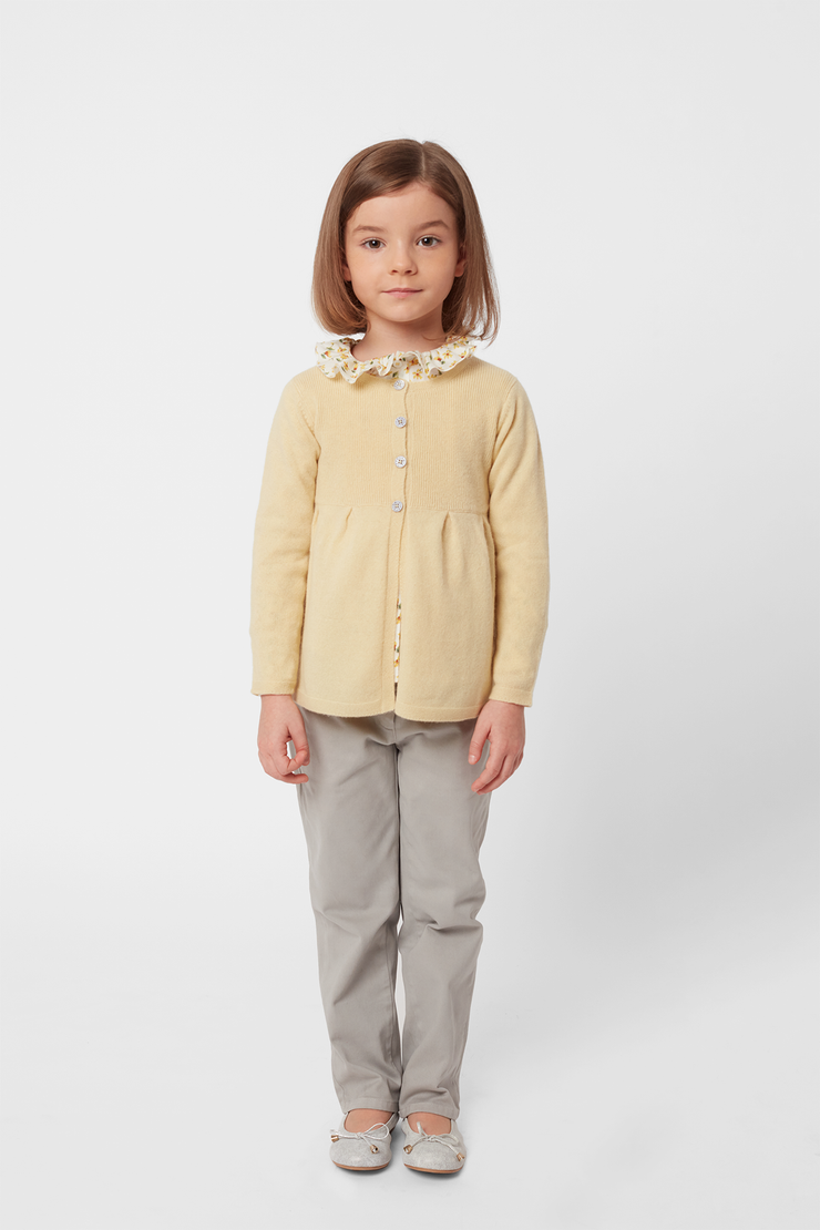 Girl - Neni 100% Cashmere Cardigan With Gathered Waist