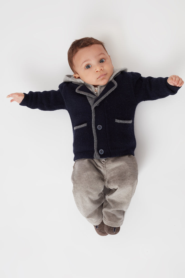 Baby Boy - Filippo 100% Cashmere Double Layered Coat Cardigan