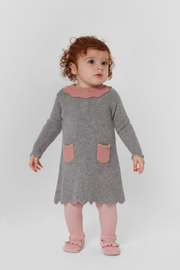 Baby Girl - Merida 100% Cashmere Linen Stitch Dress