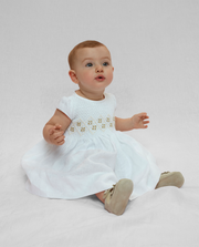 Baby Camilla - Linen smocked dress