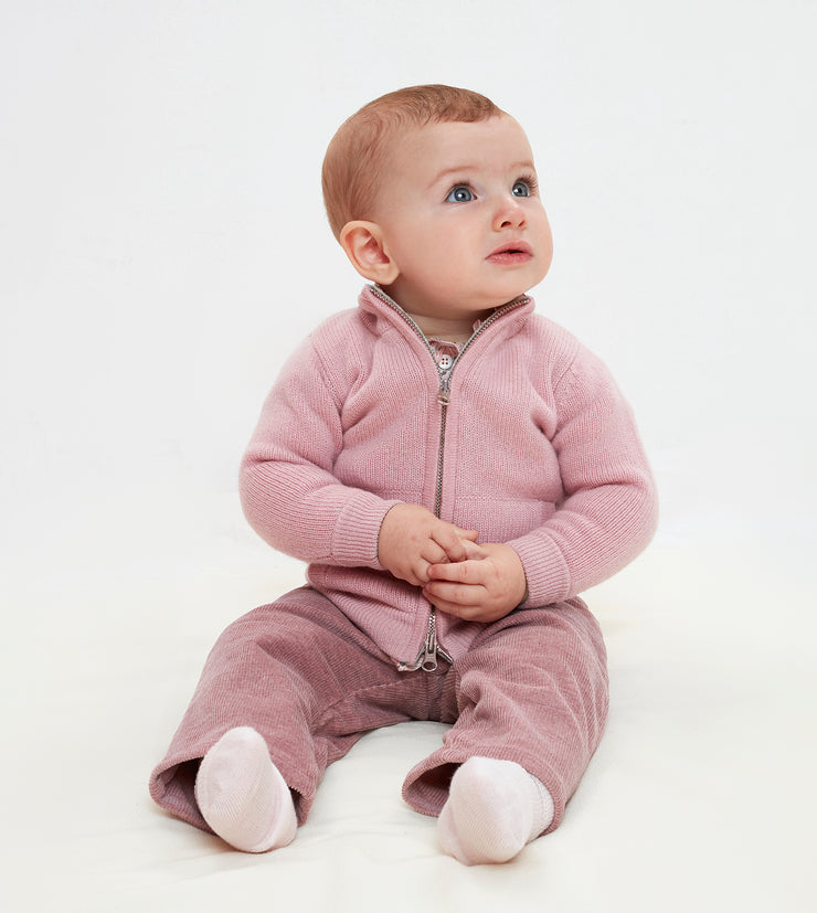 Baby Girl - Frida Cashmere High Neck Cardigan