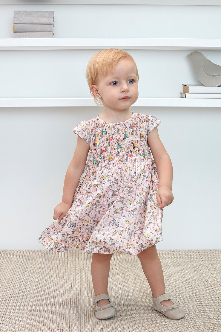 Baby Girl - Issadora 100% Cotton Smocked Dress