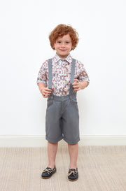 Baby Boy - Oliver 100% Cotton Classic Collar Shirt With Animal Prints