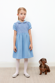 Girl - Marissa Hand Embroidered 100% Wool Smocked Dress