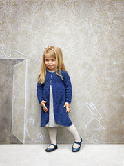 Girl - Cashmere 2-In-1 Dress With Over Lay And Embroidered Dots