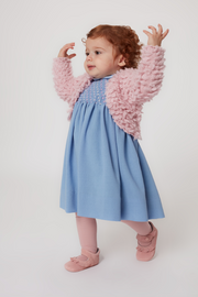 Baby Girl - 100% Cashmere Faux Fur Shrug
