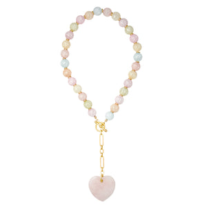 Cotton Candy Y-Necklace