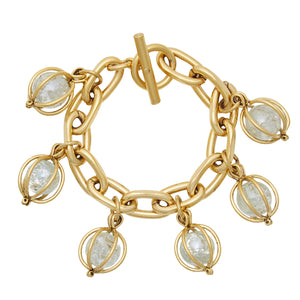 Crystal Ball Charm Bracelet
