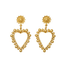 Load image into Gallery viewer, Heart Of Gold Earrings