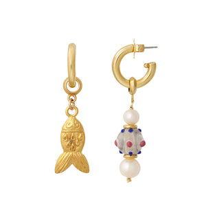 Gold Fish Earring Charm