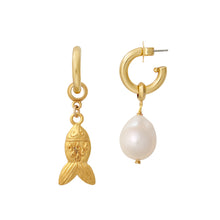 Load image into Gallery viewer, Gold Fish Earring Charm