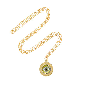 Watchful Eye Spinner Necklace