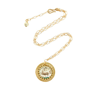 Zodiac Intaglio Aries Necklace
