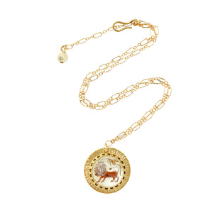 Zodiac Intaglio Leo Necklace
