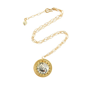 Zodiac Intaglio Scorpio Necklace
