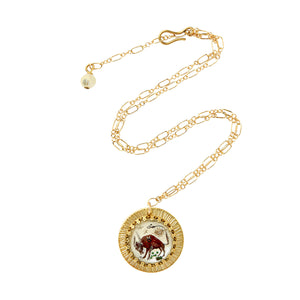 Zodiac Intaglio Taurus Necklace