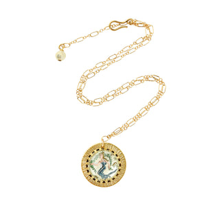 Zodiac Intaglio Virgo Necklace