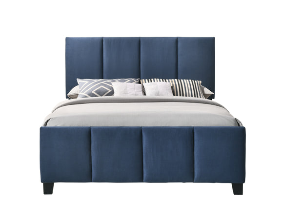 Blue Queen or King Upholstered Bed Frame