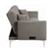 Taupe Sofa Bed with Power Outlet