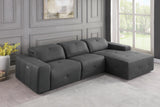 Grey Power Reclining Sectional Sofa