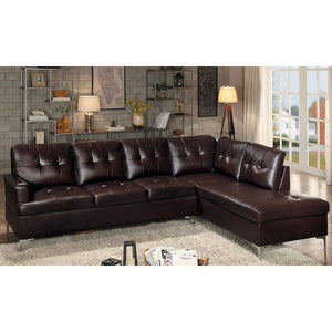 Brown Leather sectional sofa @ Mattress Clearance USA Pensacola