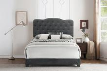Dark Grey Queen or King Upholstered Bed Frame