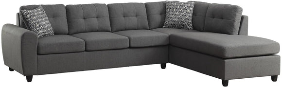 Steel Grey Sectional (3836461350986)