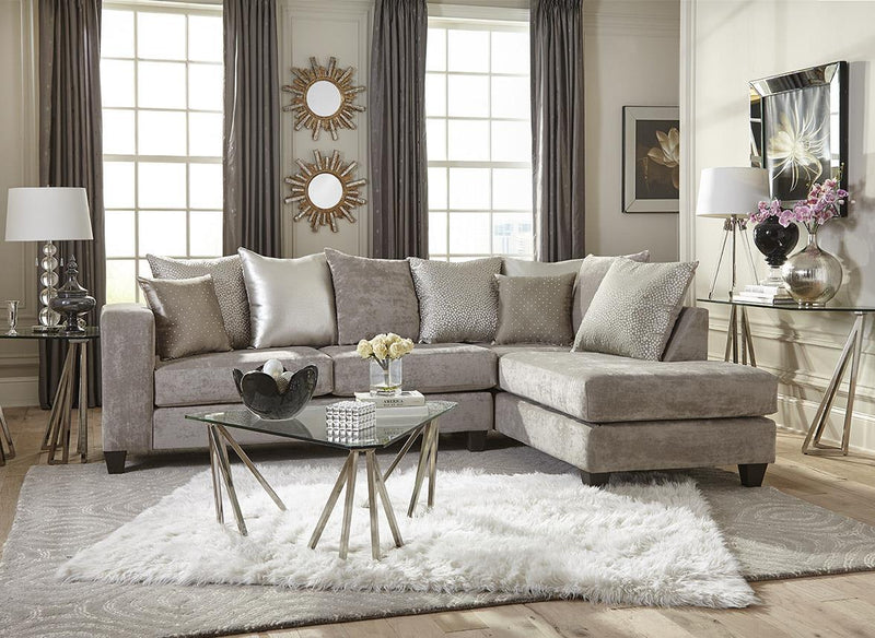 Silver Sectional Sofa
