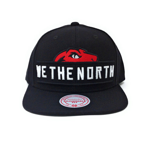 Mitchell and Ness Toronto Raptors We The North - Raptor Peaking Out Black Snapback Hat