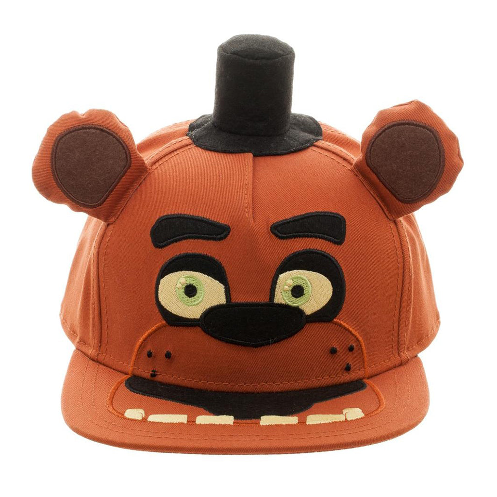 "Bioworld Brown Licensed Five Nights At Freddy's ""Freddy"" Big Face, Hat And Ears Snapback Hat"