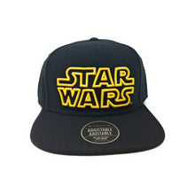 Load image into Gallery viewer, Bioworld Licensed Star Wars Logo Black Snapback Hat
