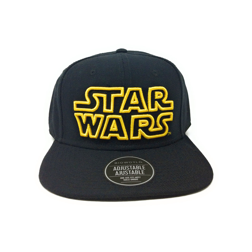 Bioworld Licensed Star Wars Logo Black Snapback Hat