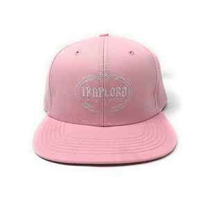 Trap Lord Worldwide Crest Logo Pink Snapback Hat