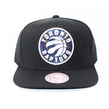 Load image into Gallery viewer, Mitchell And Ness Toronto Raptors Dark Hologram Black Snapback Hat