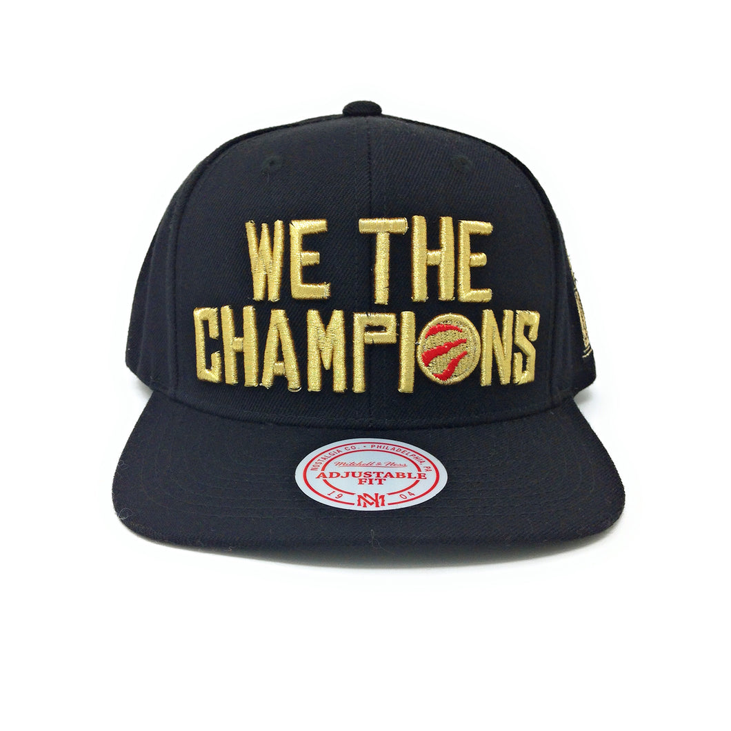 Mitchell and Ness Toronto Raptors We The Champions - 2019 Champions - Black/Gold Snapback Hat