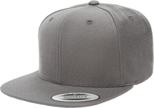 Load image into Gallery viewer, Flexfit 6089M Dark Grey Premium Classic Snapback Hat