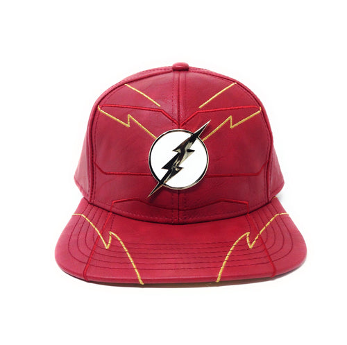 Bioworld Licensed The Flash Rebirth Suit Up PU Leather Red/Gold Snapback Hat