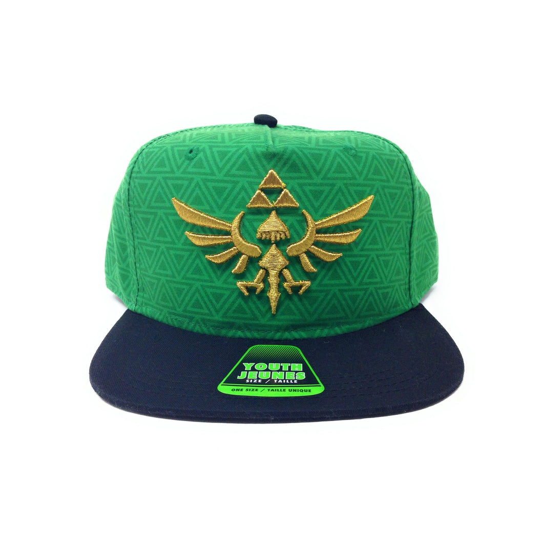 Bioworld Licensed The Legend Of Zelda Youth Green/Black Snapback Hat