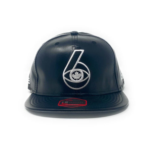 6 Visions - The Cap Guys TCG / Inspired Exclusives PU Black/White Strapback Cap