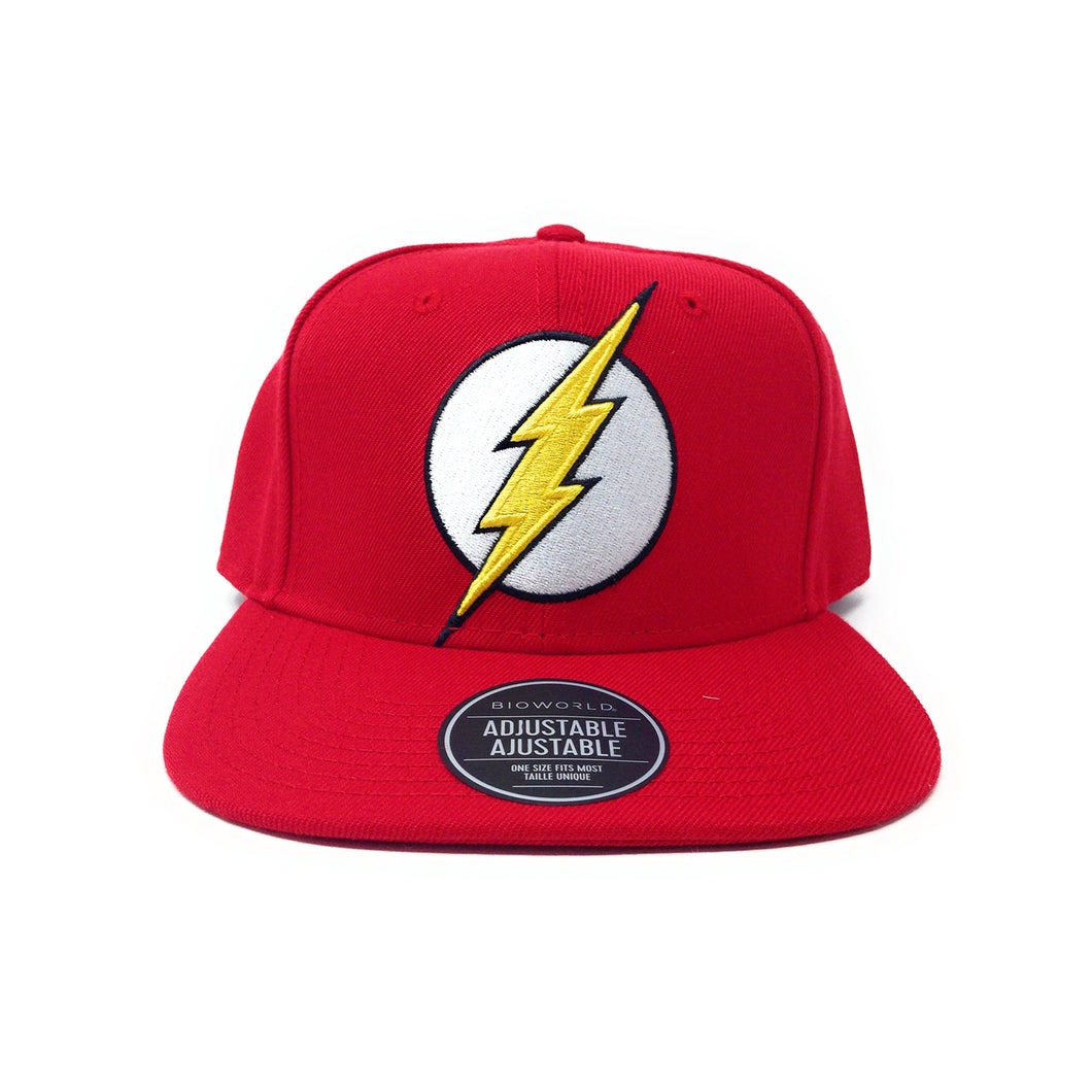 Bioworld Licensed The Flash Logo Red Snapback Hat