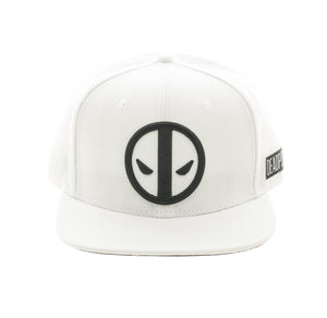 Bioworld Licensed Deadpool - Marvel Comics - White Snapback Hat