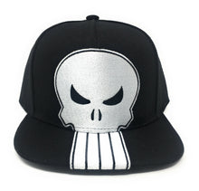 Load image into Gallery viewer, Punisher - Logo On Poly Faux Wool White/Black Snapback